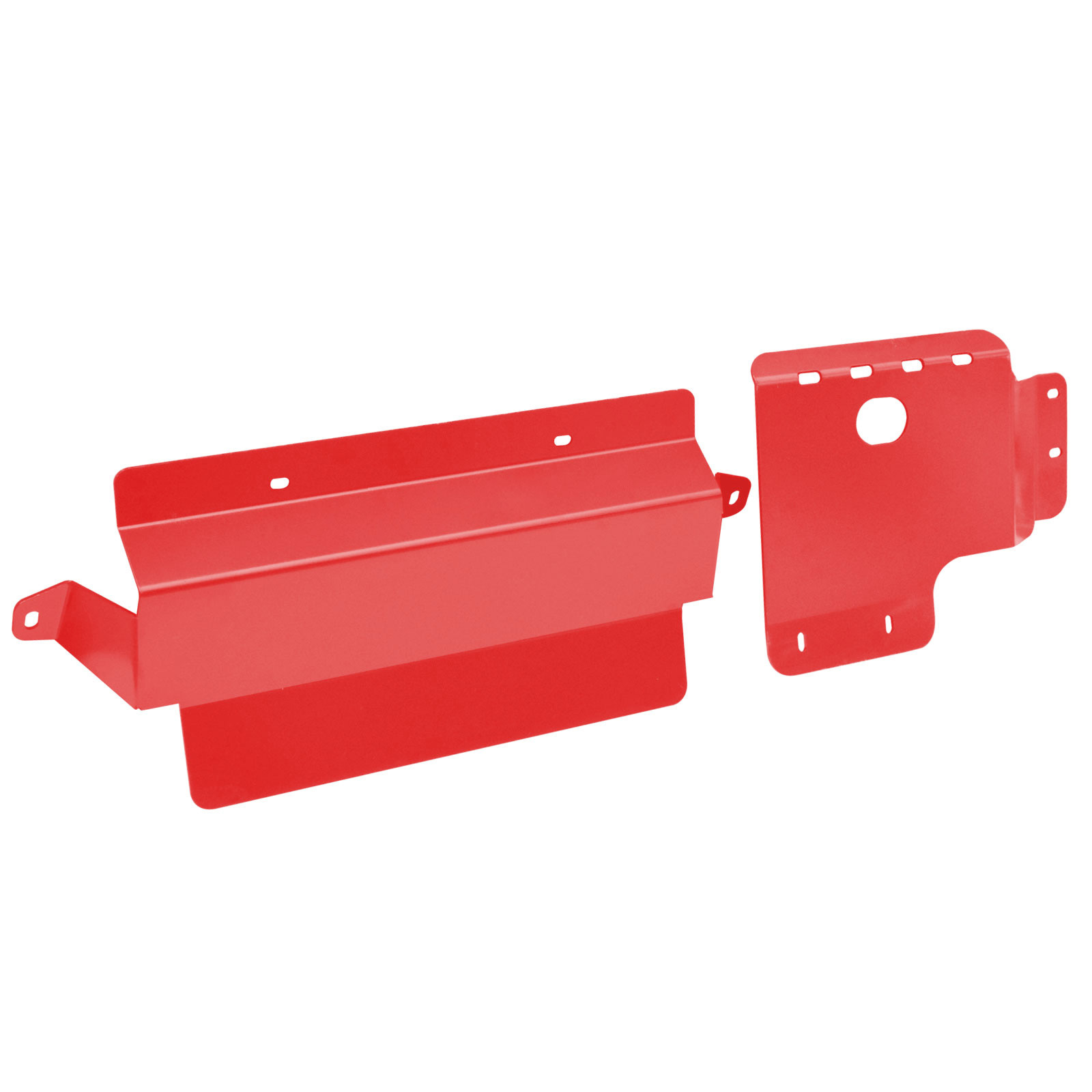 2pcs Bash Plate Fit For Toyota Landcruiser VDJ 76 78 79 V8 4mm RED Sump Guard image