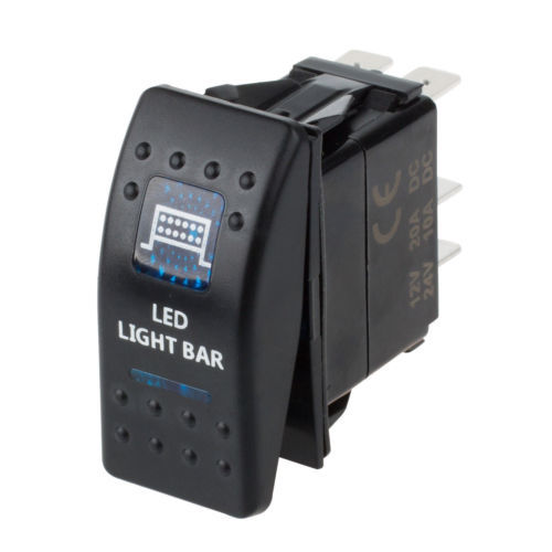 ARB Carling Narva Rocker Switch Dual Backlit LED Light Spot 12V 24V ON/OFF image