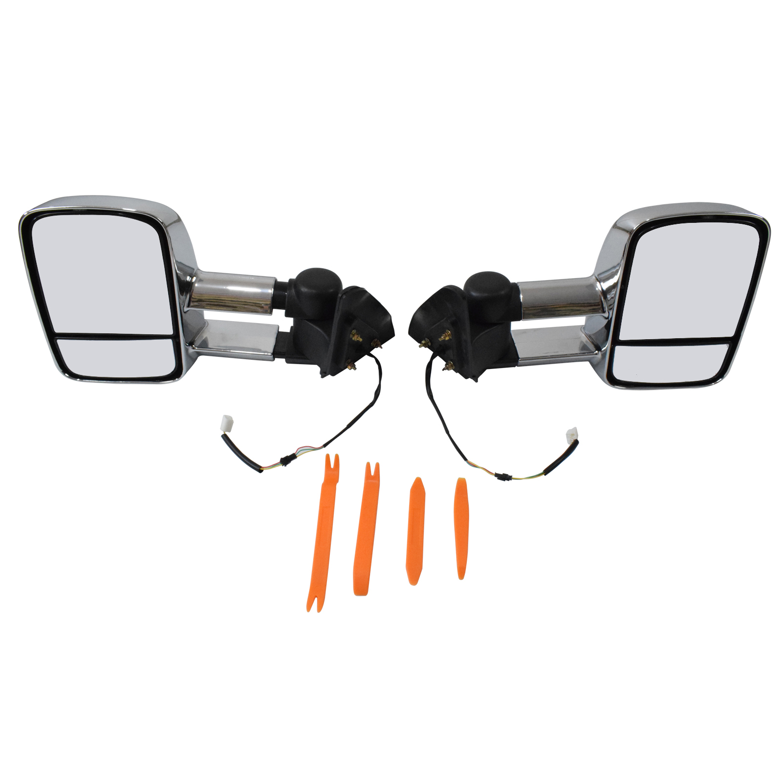 fit for Toyota Prado 120 Series 03-09 Towing Extendable Mirror L&R Set image